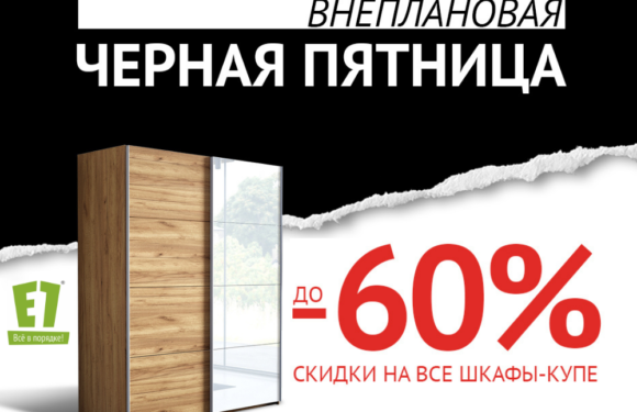 Шкафы-купе со скидкой до 60%!